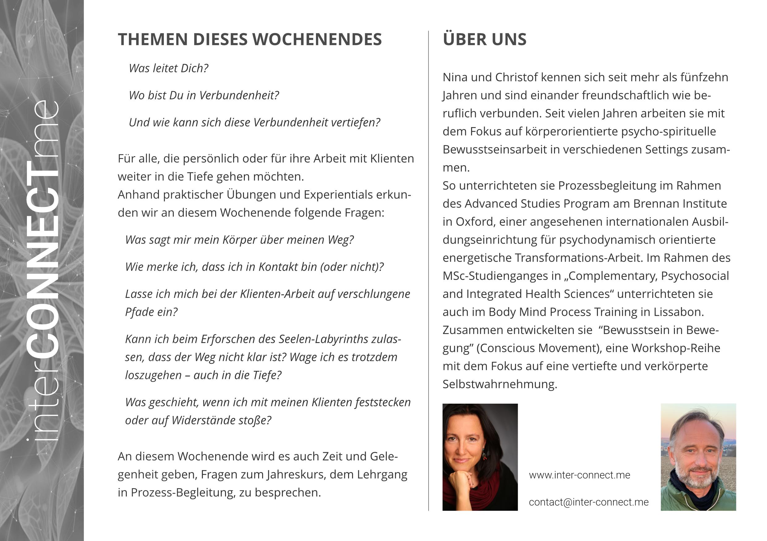 interCONNECTme Einführungsworkshop Bern 2